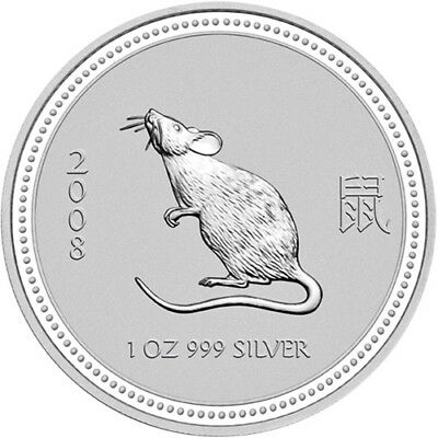 2007/2008 Australian Lunar Series I - Mouse One Ounce .999 Fine Silver Capsule