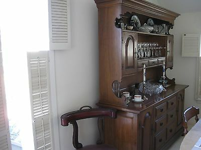 Dining room: sideboard/hutch, table, chairs
