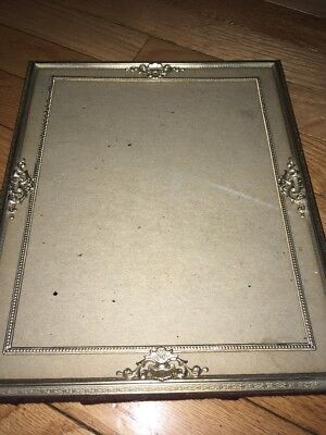 Lot of 6 Vintage Ornate Small Metal Picture Frames Shabby Chic table or hang