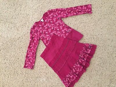Naartjie girls sz 9 top and matching skirt, preowned
