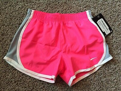 Nike Girls Dri Fit Tempo Performance Shorts Hyper Pink 6X