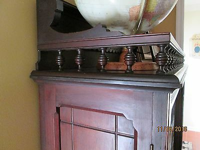 Victorian Walnut  Book case ( EASTLAKE)  with Glass double doors