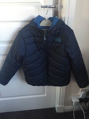 Reversible kids the north face jacket size 7/8 old