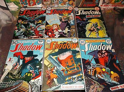 THE SHADOW LOT OF 6 * # 1, 3, 4, 5, 7 & 8 * 1973 - 1974 * DC * $202.00 Guide