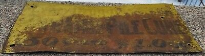 """Antique Tin Advertising Sign """"Pyramid Pile Cure"""" Embossed, Rare"""
