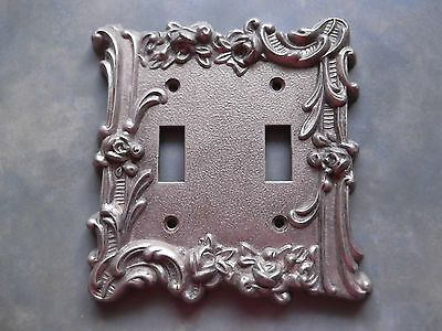Vintage M.C.Company 60 T.T. Double Switch Plate Cover Light Switch Bronze Metal?