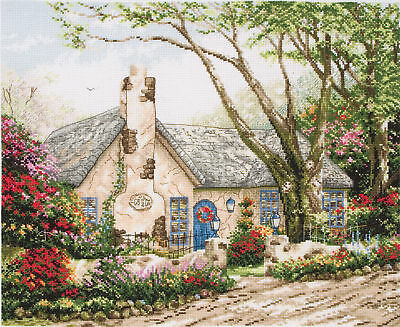 Counted Cross Stitch Kit ANCHOR - Maia Collection - Morning Glory Cottage