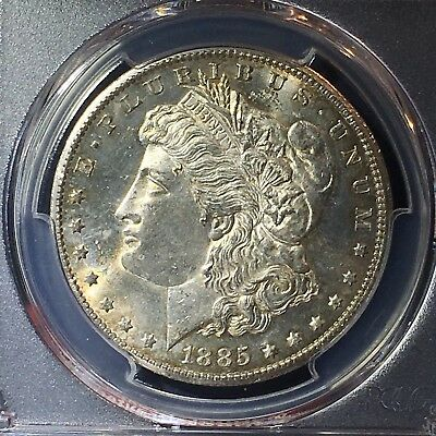 1885-CC $1 Morgan Silver Dollar