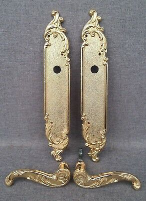 Vintage door handles set knob late 1900's made in France mansion castle