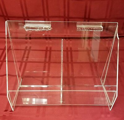 """Acrylic Literature Holder for Table or Wall, 2 Pockets 13"""" x 9.5"""" x 5.5"""""""