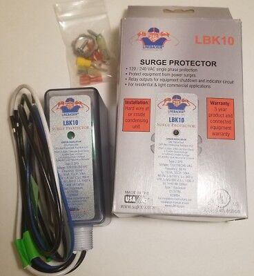 Supco LINEBACKER LBK10 120/240 VAC Single Phase Surge Protector HVAC Made in USA