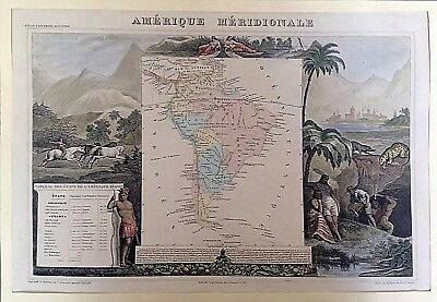 Map of South America / America del Sur. V. LEVASSEUR, 1856.