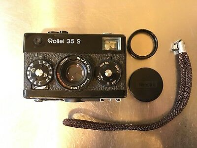 Rollei 35 S Camera Zeiss Sonnar 40mm f2.8 Lens Black
