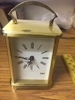Smiths Astral Carriage Clock Brass Mantle Clock