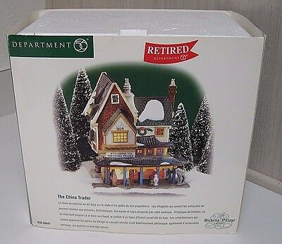 Dept 56 Dickens Village The China Trader Lighted House -  New in Box