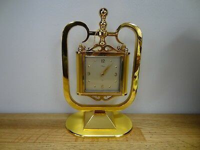 *rare 8 Day Imhof 4 Sided Gilted Mantel Clock, Thermometer,barometer,thermometer