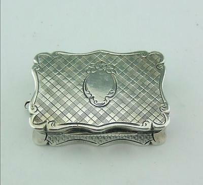 ANTIQUE SOLID SILVER GOOD QUALITY VINAIGRETTE , 1863 Edward Smith