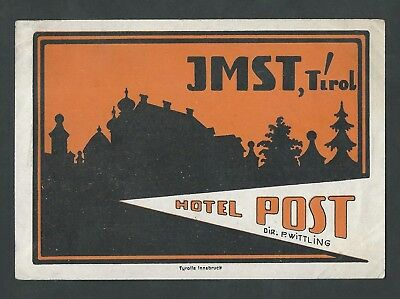 Hotel Post IMST Austria - vintage luggage label
