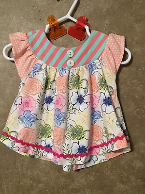 Matilda Jane Flower toppers tunic 3-6m EUC Happy and free
