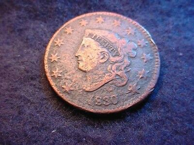 1830 Coronet Head Large Cent Nice Coin--No Reserve!!!    #26