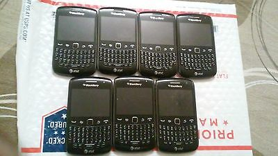 Lot of 7 BlackBerry Curve 9360 - Black (AT&T) Smartphone