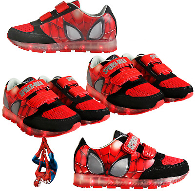 SPIDER-MAN SHOES FLASHING LEDs IN THE SOLE MARVEL LICENSED FOR GIRLS AND BOYS