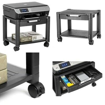 NEW Mini Printer Machine ROLLING CART TABLE for Printers with Print Papers Shelf