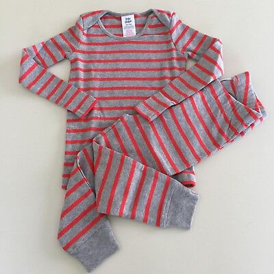 """Mini Boden Baby Boys AWESOME """"GREY"""" Striped Cotton Play Set 18-24 months.NEW!"""