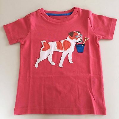 MINI BODEN Adorable Girl's Orange-Red DOG Shirt. 1-2 years NEW. EXCLUSIVE!!