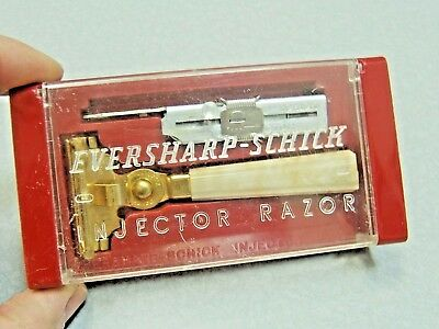 Vintage Eversharp Schick Deluxe Injector SE Safety Razor Set in Case 1946-1955