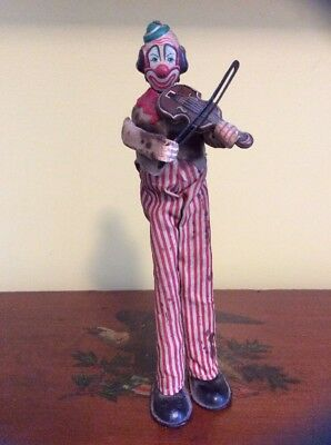 JAPAN,TIN WIND UP, TPS, HAPPY THE VIOLINIST,CLOWN, 1950's-60's
