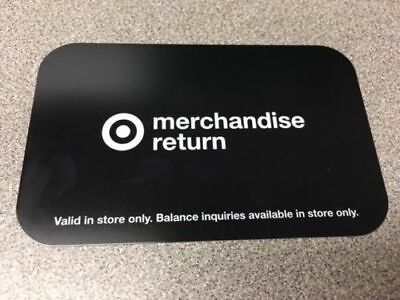 Target Black  Gift Card Merchandise return $183.31  =free shipping=