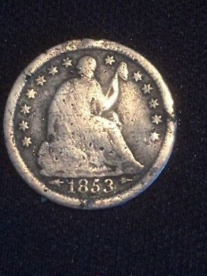 1853 Seated Liberty Half Dime-Good Condition