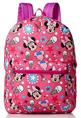 Disney Minnie Mouse All Over Print Girls' Backpack, Pink