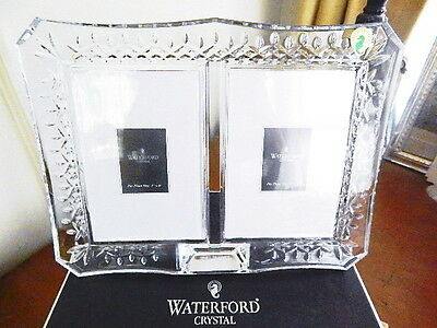 """Waterford Crystal LISMORE DOUBLE PHOTO Picture Frame 4 x 6"""" - NEW / BOX!"""