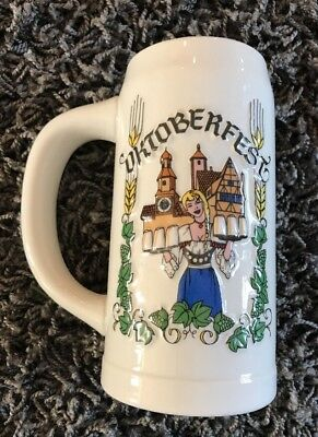 PABST BLUE RIBBON BEER PBR OKTOBERFEST CERAMIC STEIN Vintage Collectible Brazil