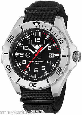 Pilot Watch Big Aviator 56mm Date C1-Light Army Strap XTAC Black KHS.LANS.NXT7