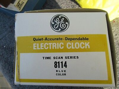 Vintage 1950's 60's Ge General Electric # 8114 Time Scan Electric Clock Blue Mib