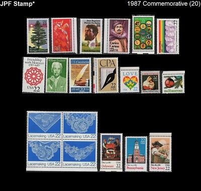JPF US 1987 Commemorative Year Set, Stamps 2246 // 2368 (20), Mint MNH NH