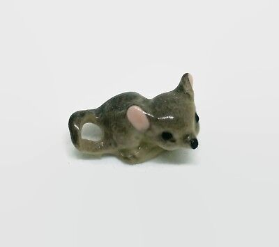 Vintage Hagen Renaker Small Baby Laying Mouse Rodent Miniature Animal Figurine