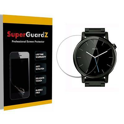 4X SuperGuardZ HD Clear Screen Protector Shield Film for Moto 360 46mm (2nd Gen)