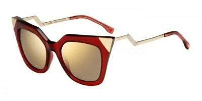 7545519c35a AUTHENTIC FENDI IRIDIA FF 0060 S (N9M XS) red gold brown mirror ...