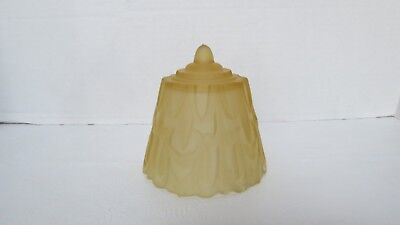 Vintage Art Deco Amber Glass Slip Shade U Shaped Fitter for Wall Sconce