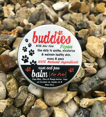 Buddies NOSE AND PAW balm butter wax for dogs and cats cracked noses snouts 50g