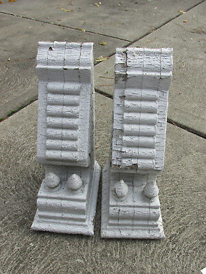 Antique Corbels - Set of Two - Salvage - 1905 - White