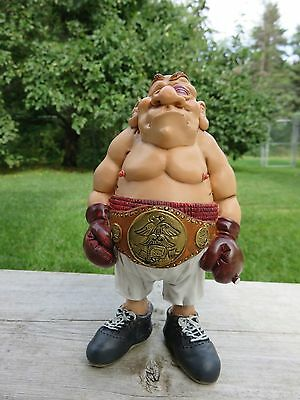 Boxer Fighter Figurine W.Stratford Grumpy Jon 6.5 in.New Fights With Boxing Mitt