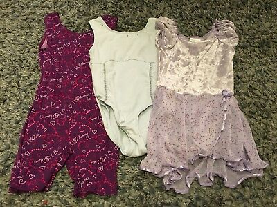 Girls Dance Wear/Clothes Lot Size 4/5, 6/6x, 6/7