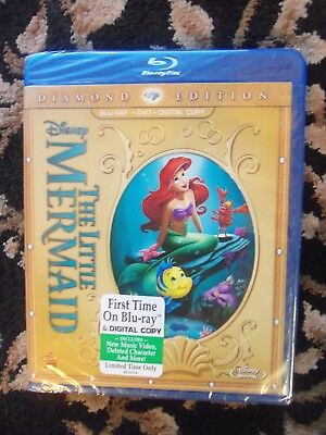 The Little Mermaid (Two-Disc Diamond Edition: Blu-ray / DVD + Digital Copy) NEW