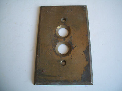Antique Push Button Brass Light Switch Wall Plate Cover, Architectural Salvage