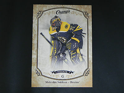 2015-16 Upper Deck UD Champs GOLD Variant Front ROOKIE #256 Malcolm Subban RC SP